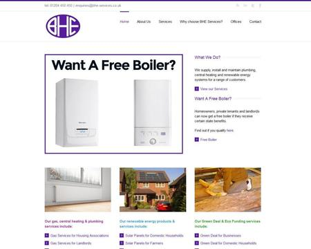 BHE Services Website Design