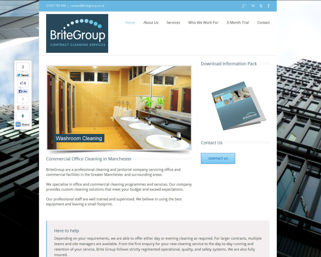 Brite Group Website Design